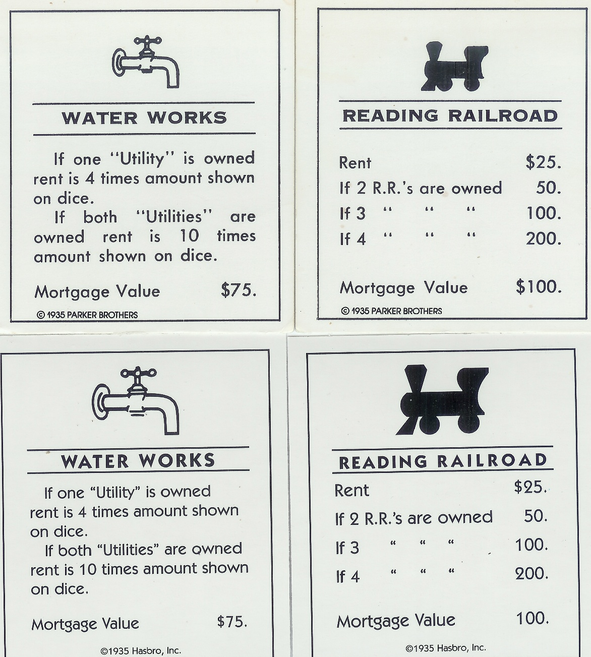 Lucrative image within printable monopoly property cards